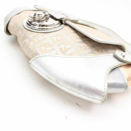 d01e94fae427 Fendi Monogram Zucca Borsa Tuc Compilation Baguette 869004 Silver Canvas  Shoulder Bag - Walmart.com