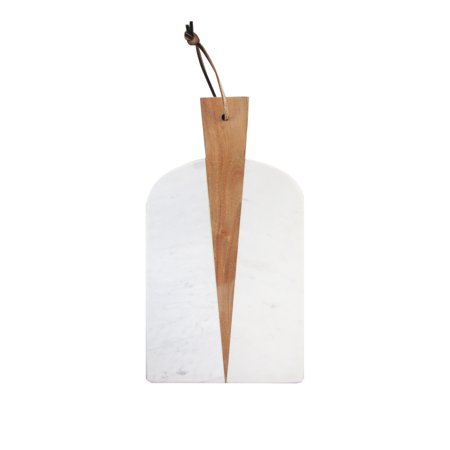 American Atelier White Marble and Wood Paddle Board Cheese Board - Atelier Creatif Halloween