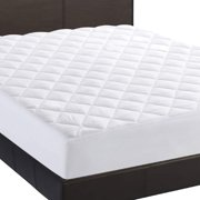 """Twin Mattress Pad, Deep Pocket Fitted Mattress Cover up to 16"""", White Quilted Mattress Protector"""