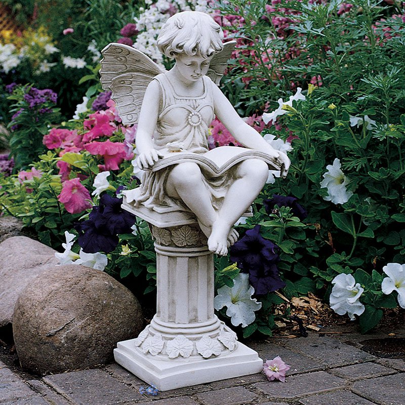 Design Toscano The British Reading Fairy Garden Statue by Design Toscano