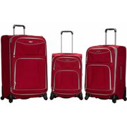 Rockland Luggage Essentials 3-Piece Soft Sided Spinner Luggage Set F218
