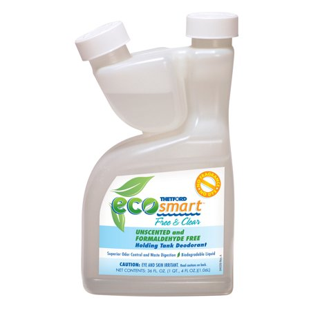 - Eco Smart Free and Clear RV Holding Tank Treatment - Deodorant / Waste Digester / Detergent - 36 oz - Thetford 94028