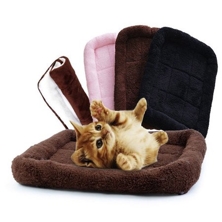 UBesGoo New Small Medium Soft Plush Dog Pet Cat Bed Warm Mat Crate (Plush Crate Mat)