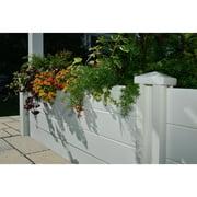 10' Venetian Garden Bed, white