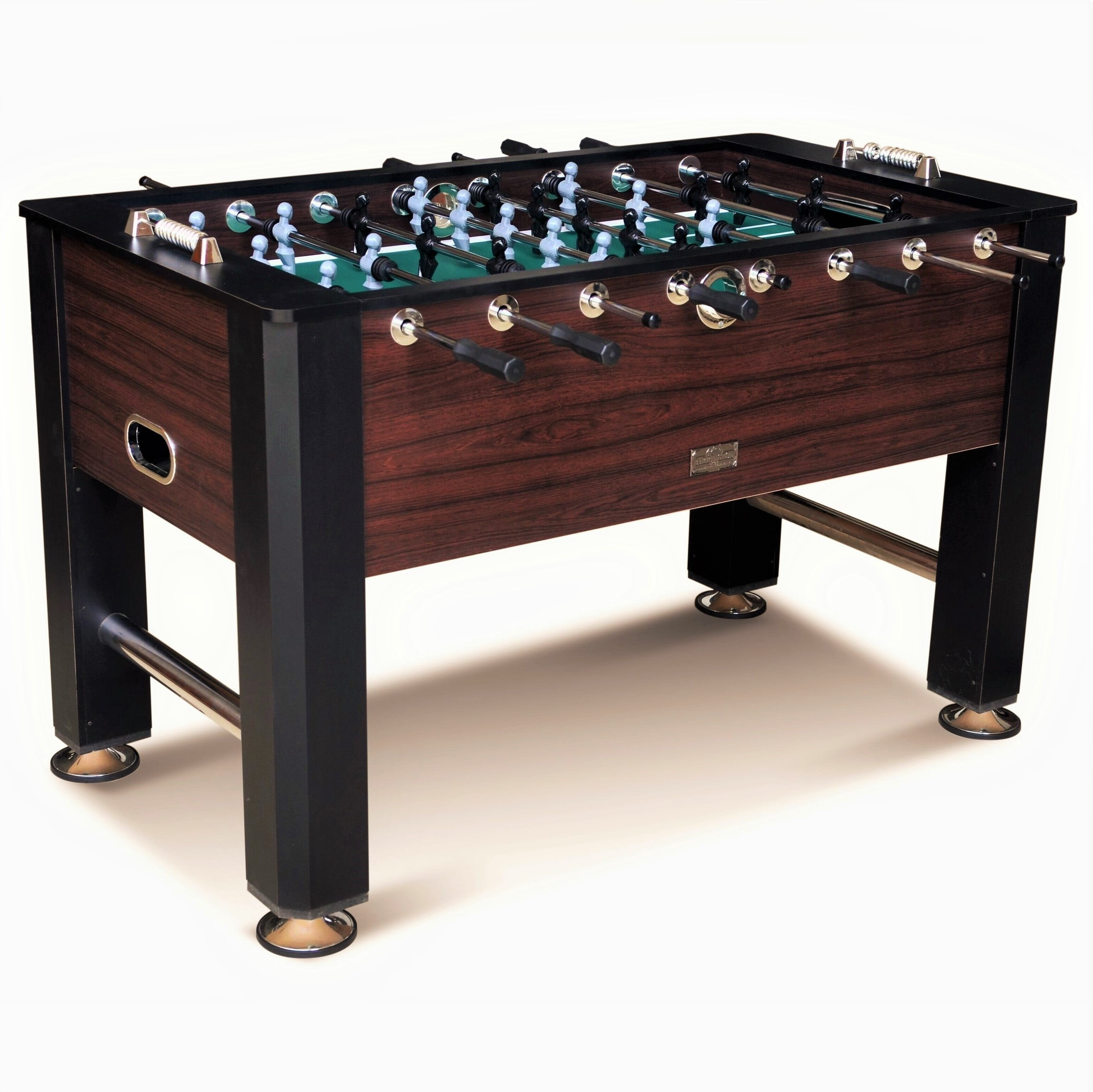 Barrington 56 Inch Premium Furniture Foosball Table Soccer Sy Leg Construction Black Brown