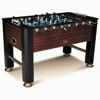 Barrington 56 Inch Premium Furniture Foosball Table, Soccer Table, Sturdy Leg Construction, Black/Brown
