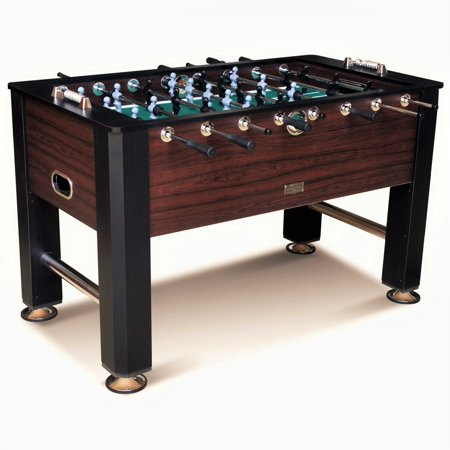 Barrington 56 Inch Premium Furniture Foosball Table, Soccer Table, Sturdy Leg Construction, Black/Brown