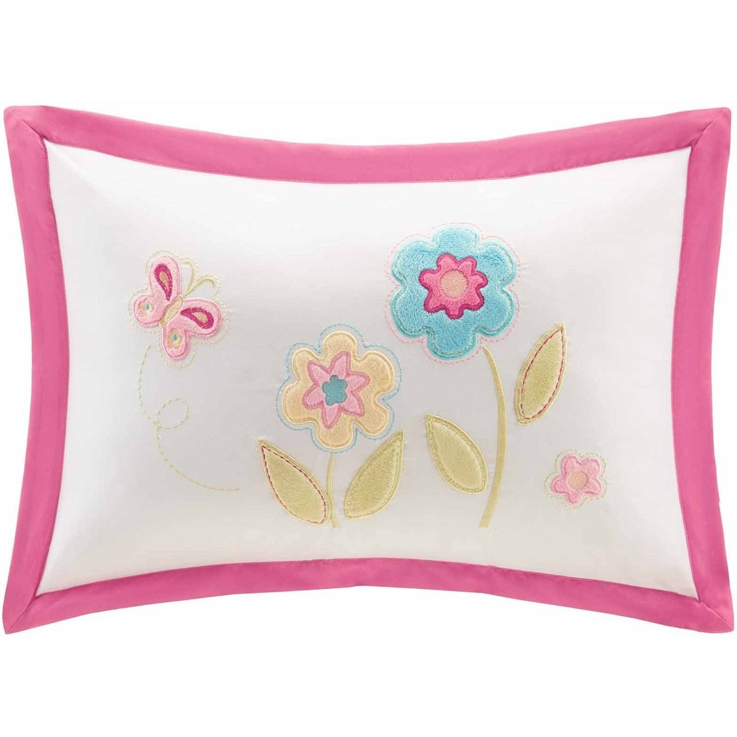 Home Essence Kids Spring Blossoms Plush Floral Oblong Pillow