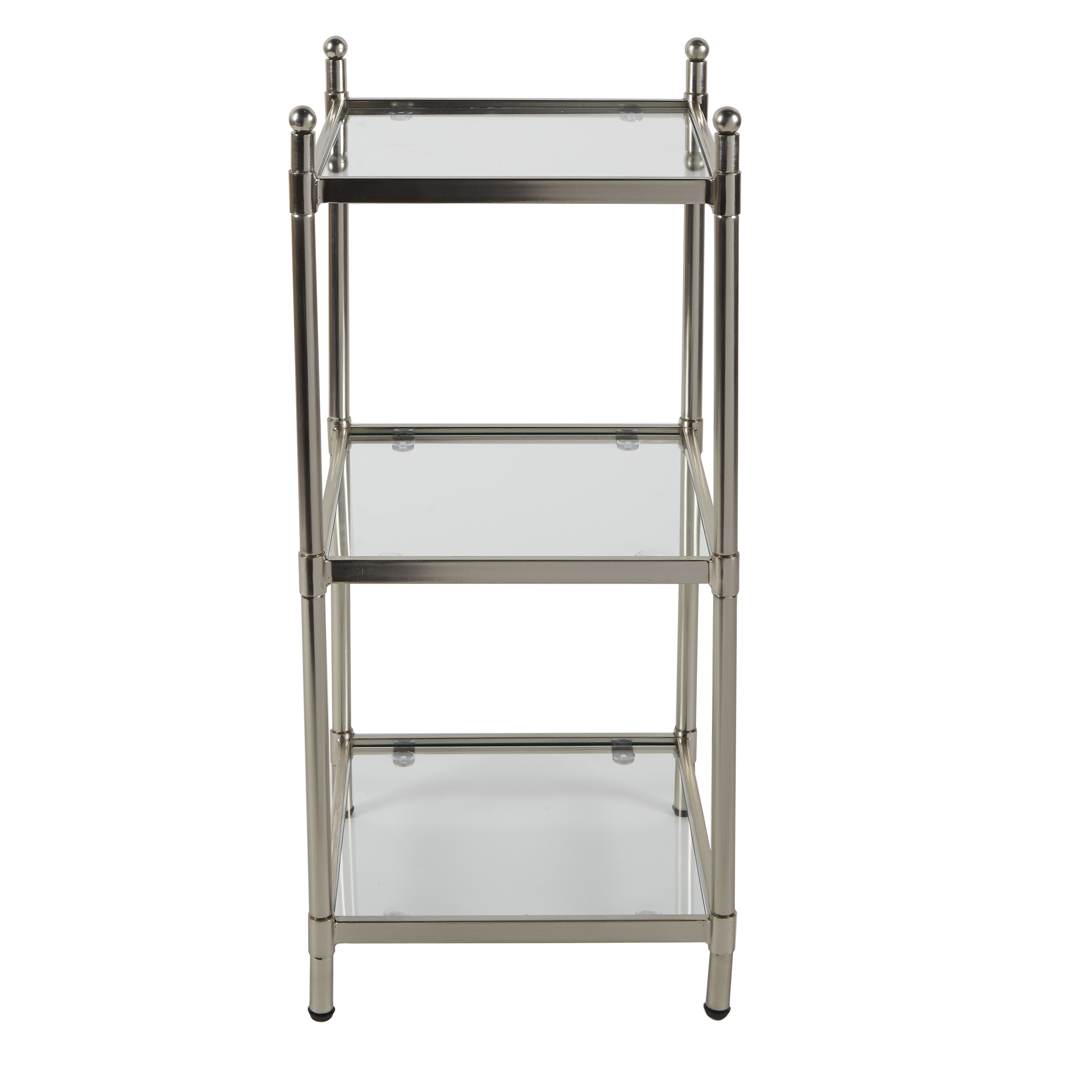Better Homes Gardens Silver Metal Etagere 3 Tier Bathroom Floor Shelf Walmart Com