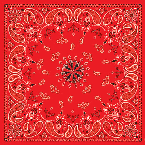 ZANheadhear Cotton Bandanna - Red Paisley