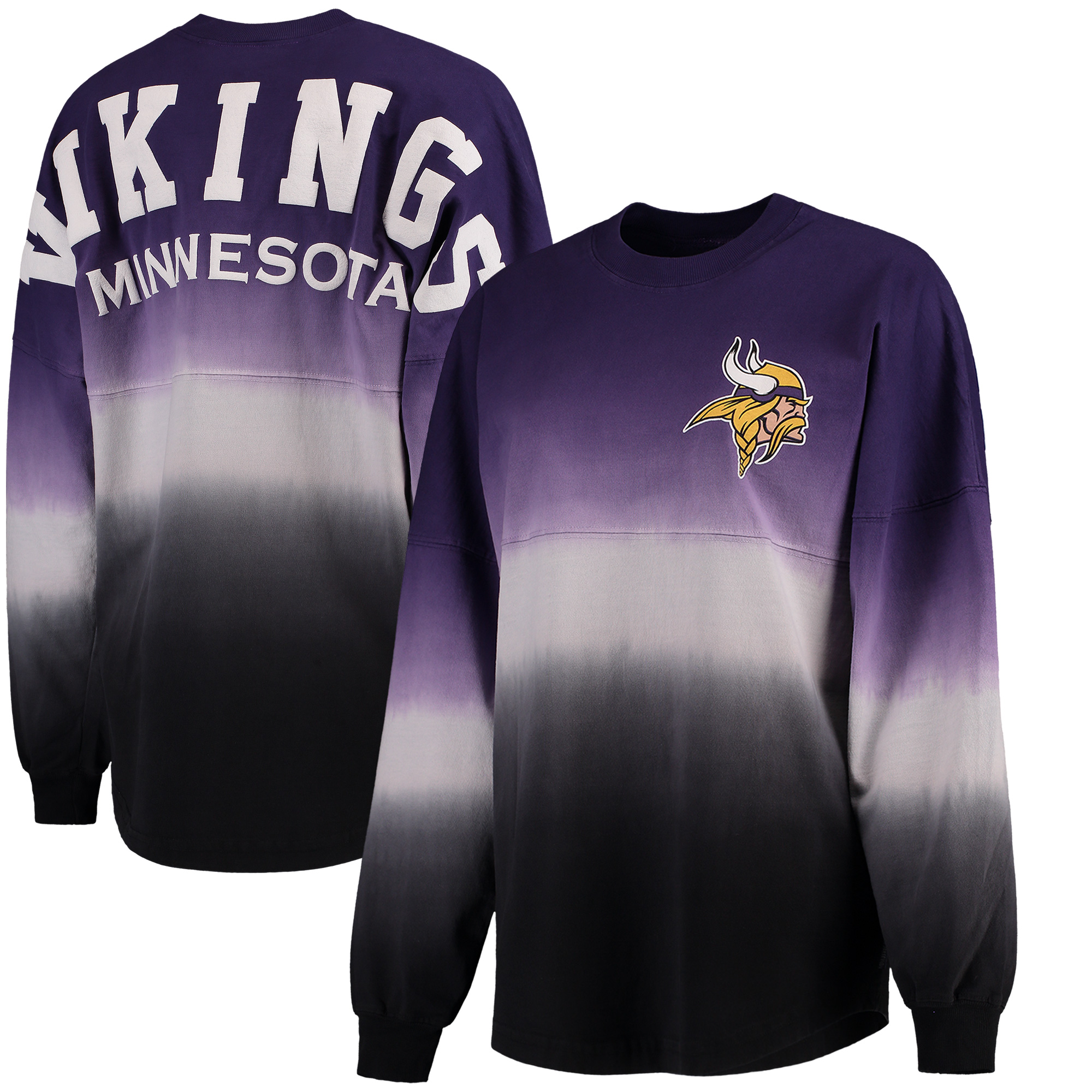 Minnesota Vikings NFL Pro Line by Fanatics Branded Women's Spirit Jersey Long Sleeve T-Shirt - Purple/Black