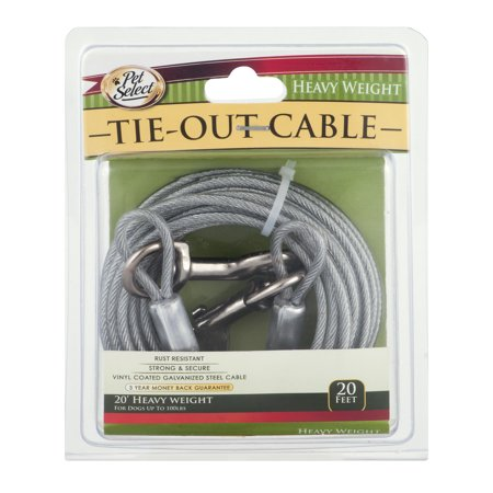 Pet Select Vinyl Coated Steel Cable Dog Tie Out Heavy