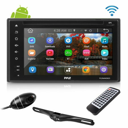PYLE PLDNAND623 - Android Stereo Receiver & Dual Camera System, HD DVR Dash  Cam, Rearview Backup Camera, 6'' Touchscreen Display, Wi-Fi Web Browsing,