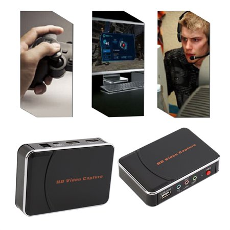 HD Game Video Capture 1080P HDMI YPBPR Recorder US Plug for Game Lovers - Walmart.com