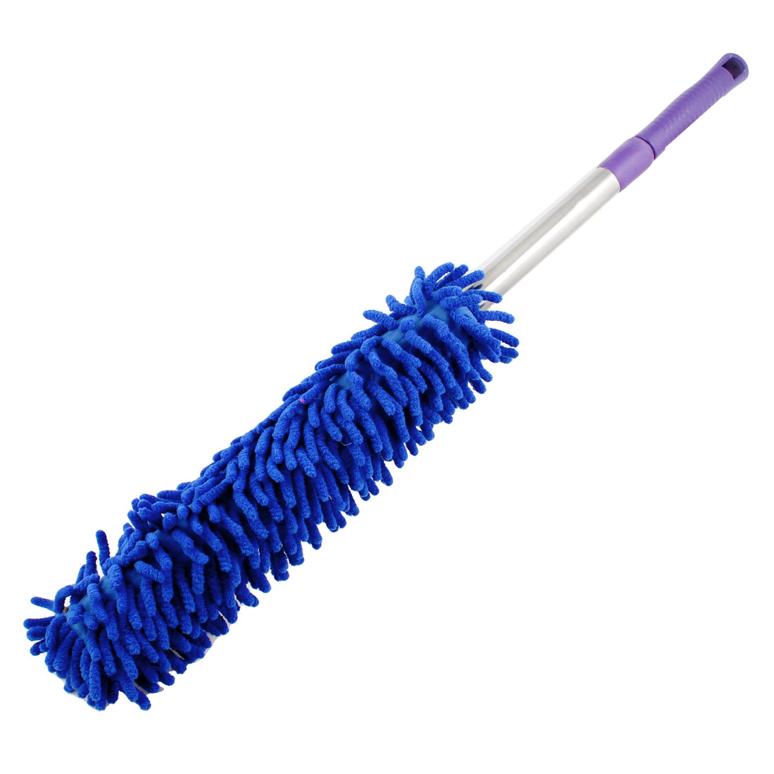 Unique Bargains Microfiber Car Household Cleaning Duster Brush Tool Dodger Blue 24.4""
