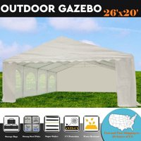 26'x20' PE White Tent - Heavy Duty Party Wedding Tent Canopy Gazebo Carport -  By DELTA Canopies