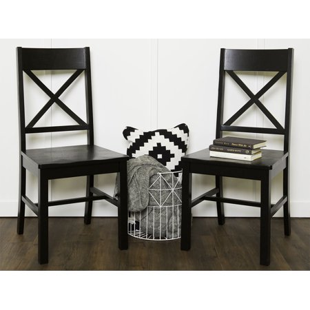 2 Black Dining Chairs - Walker Edison Millwright Dining Chair in Black (Set of 2)