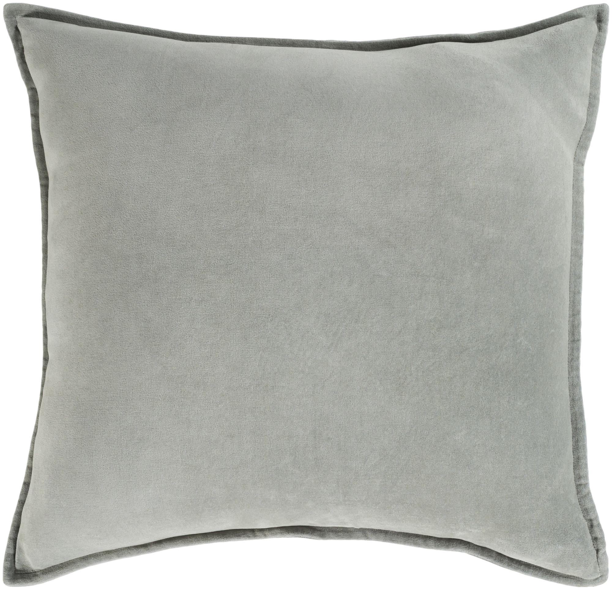 "Surya CV-VELV-1320 Cotton Velvet 20"" Wide Rectangular Solid Cotton Accent Pillow"