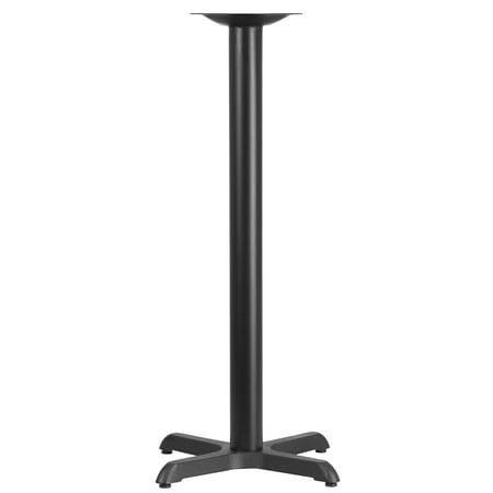 Flash Furniture 22'' x 22'' Restaurant Table X-Base with 3''D Bar Height Column Restaurant Table Base