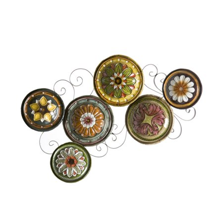 Scattered Italian Plates Wall - Plate Wall Art