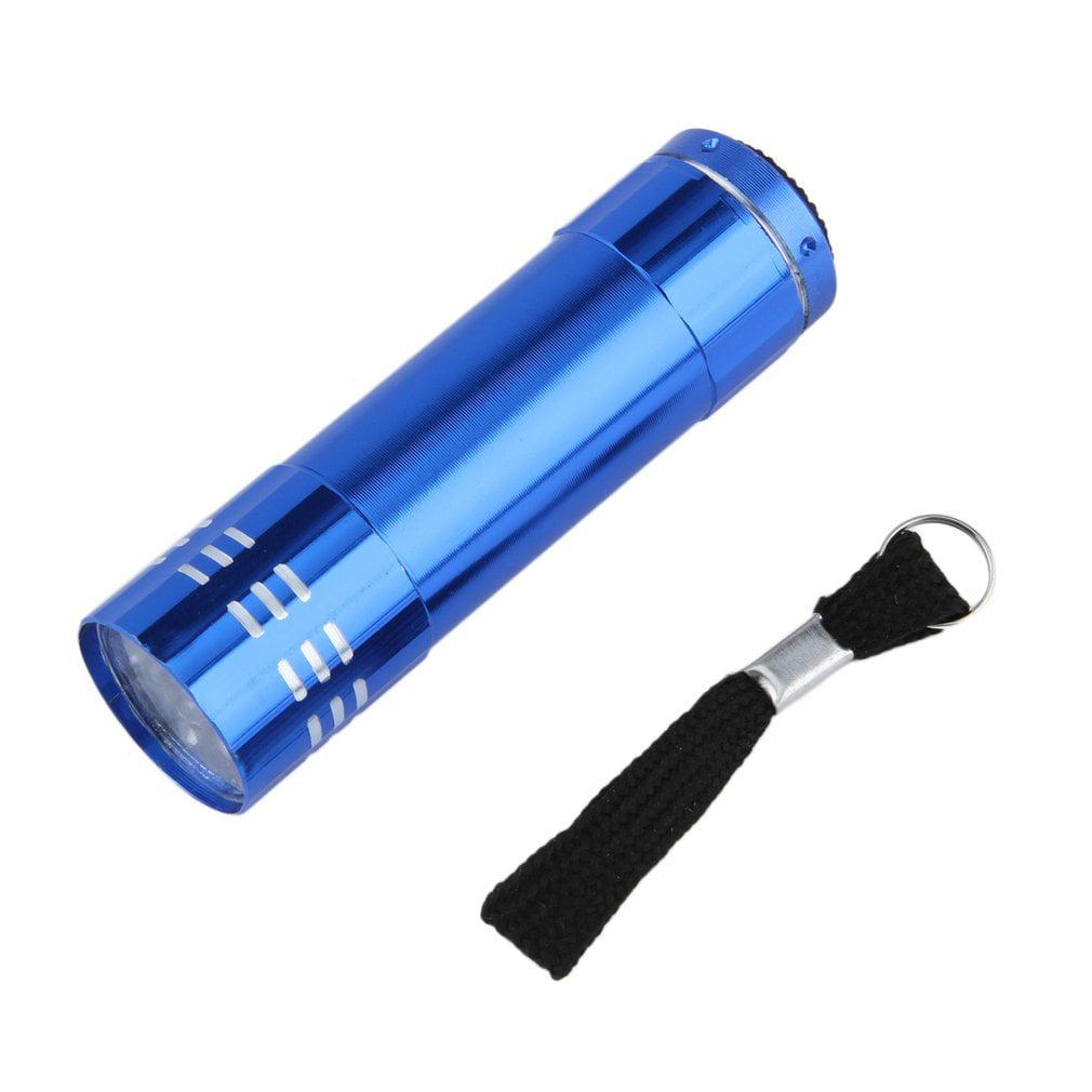 New Arrival Flashlight New 9 Led Mini Ultra Bright Torch Flashlights Torch Blue Aluminium