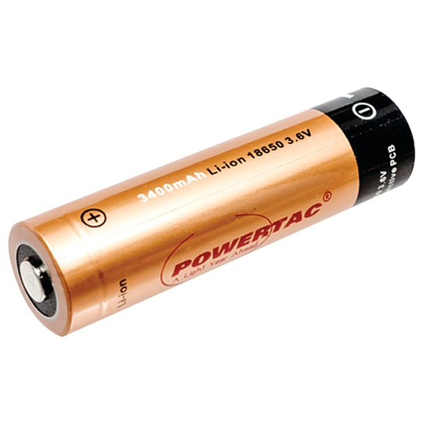 Powertac 18650p 2,600mah Li-ion 18650 Rechargeable Battery