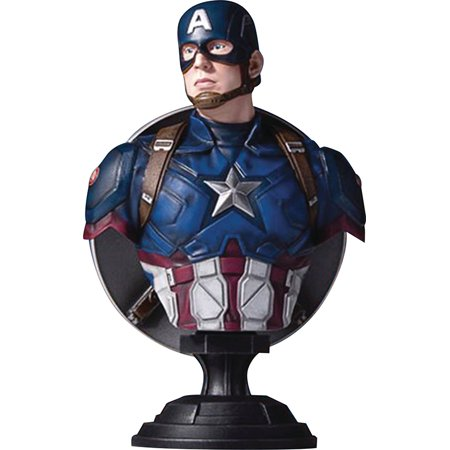 Captain America Civl War 7 Inch Bust Statue Marvel Movie Series - Captain America Classic Bust - image 2 of 2