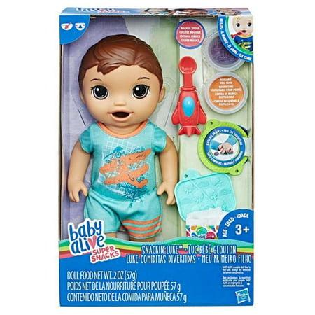 Hasbro Hsbc1884 Baby Alive Snackin Luke Brunette Toys