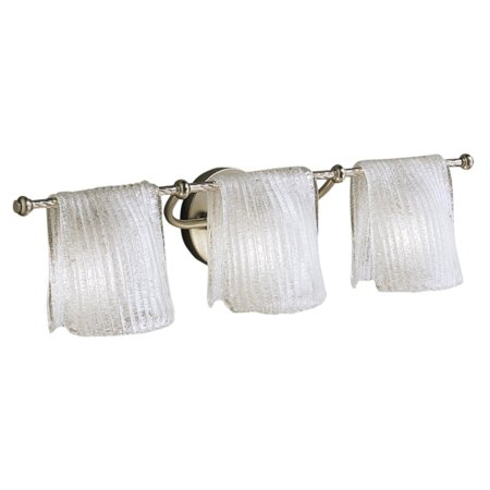 Kichler Nickel Bathroom Bulbs (Kichler Drapes Bathroom Wall Light - 26.5W in. Brushed Nickel)