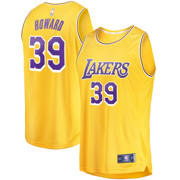 Dwight Howard Los Angeles Lakers Fanatics Branded Youth Fast Break Player Jersey - Icon Edition - Yellow