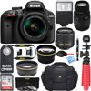 Nikon D3400 24.2 MP DSLR Camera + (18-55mm VR Nikon & 70-300mm SLD DG Sigma Lens Package, Black) + Bundle 64GB SDXC Memory + Photo Bag+Wide Angle Lens + 2x Telephoto+Flash + Remote + Tripod + Filters Welcome to photography.Before the D3400, you chose your smartphone camera for convenience. Zooming was clumsy. Shooting in low light was nearly impossible. Capturing fast action was a game of luck. But after the D3400, you'll see that you were compromising image quality. That some of the greatest photos happen when the light is low. That fast action can be frozen in perfect clarity. And that a camera and a smartphone can work together in harmony to make the photos you share absolutely amazing. Stunning simplicityPhotos and videos captured with the D3400 and a superb NIKKOR lens are as vibrant and lifelike as the moments they preserve. Shoot in extremely low light without a problem. Freeze fast-action in its tracks. Create portraits with rich, natural skin tones and beautifully blurred backgrounds. The photos you share will amaze everyone-even yourself. Breathtaking image quality - 24.2MP sensor with no optical low-pass filterFlawless low-light photos - Native ISO range from 10025,600The speed to freeze time - EXPEED 4 image processingAlways connected - Nikon SnapBridge connectivity Nikon SnapBridge - Camera, smartphone and cloud in perfect harmonySnapBridge has changed the way cameras and smartphones work together-and only Nikon has it. Take a picture with the D3400 and it's automatically transferred to your compatible smartphone or tablet, ready to share. SnapBridge works seamlessly with NIKON IMAGE SPACE, a cloud storage and sharing site, to back-up your photos and to help you create and share albums with your friends and family. The future of photo sharing is here. One-time setup - Easily pairs with up to five smart devices; always connected.Automatic transfers - Photos automatically appear on your smart device.Easy sharing - Create and share albums on the go with a 