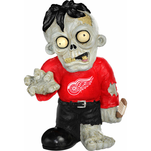 Forever Collectibles NHL Resin Zombie Figurine, Detroit Redwings