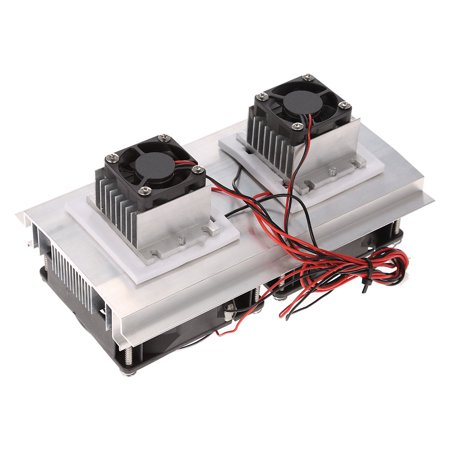 Thermoelectric Peltier Refrigeration Cooling System Kit Semiconductor Cooler Large Radiator Cold Conduction Module Double Fans - image 5 of 7