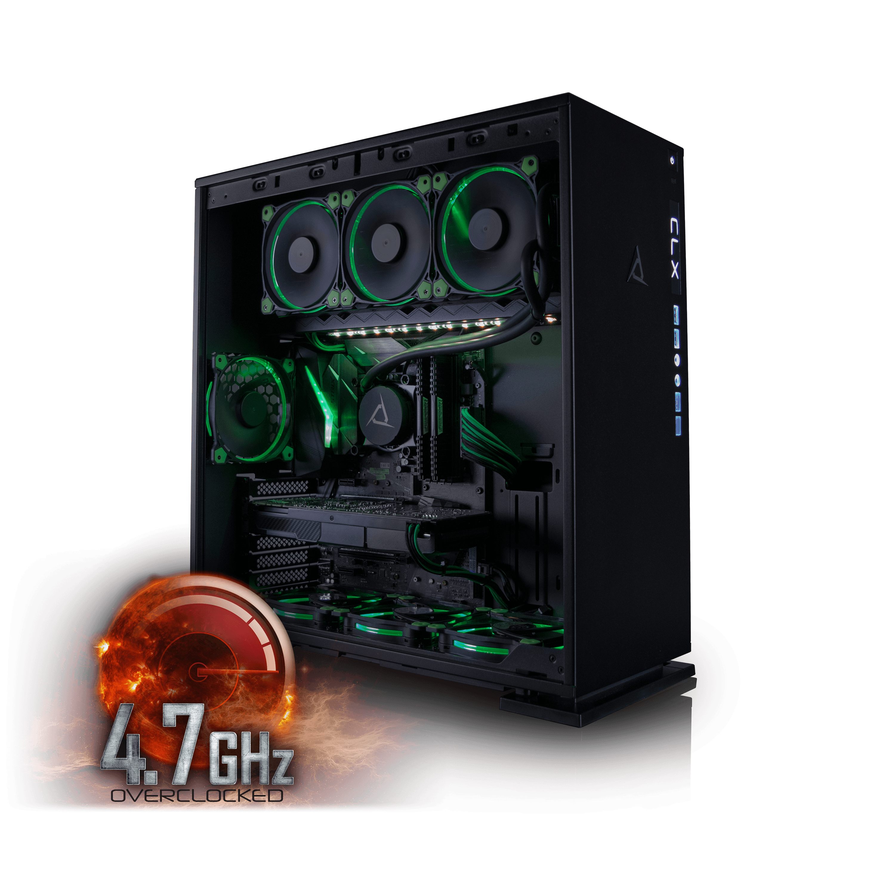 CybertronPC CLX Set High Performance Gaming PC Tripple-Liquid Cooled Z270 Asus Motherboard Intel i5 7600K 4.7GHz(OC)... by CybertronPC