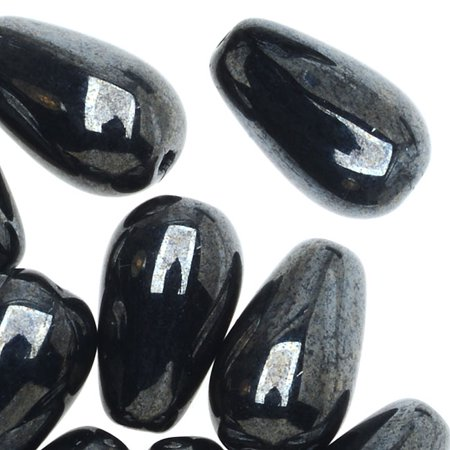 Smooth Teardrop Beads (Czech Glass, Smooth Tear Drop Beads 10x6mm, 20 Pieces,)