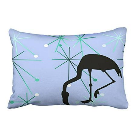 WinHome Multicolor Atomic Starburst Mid Century Modern Flamingo Classy Starburst Decorative Pillow
