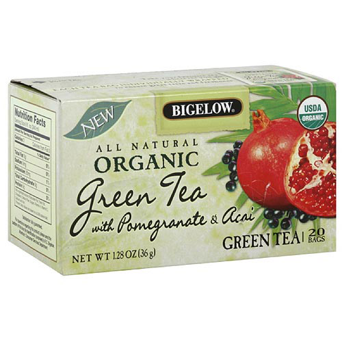 Bigelow Green Tea Tea Bags With Pomegranate & Acai, 20ct (Pack of 6)