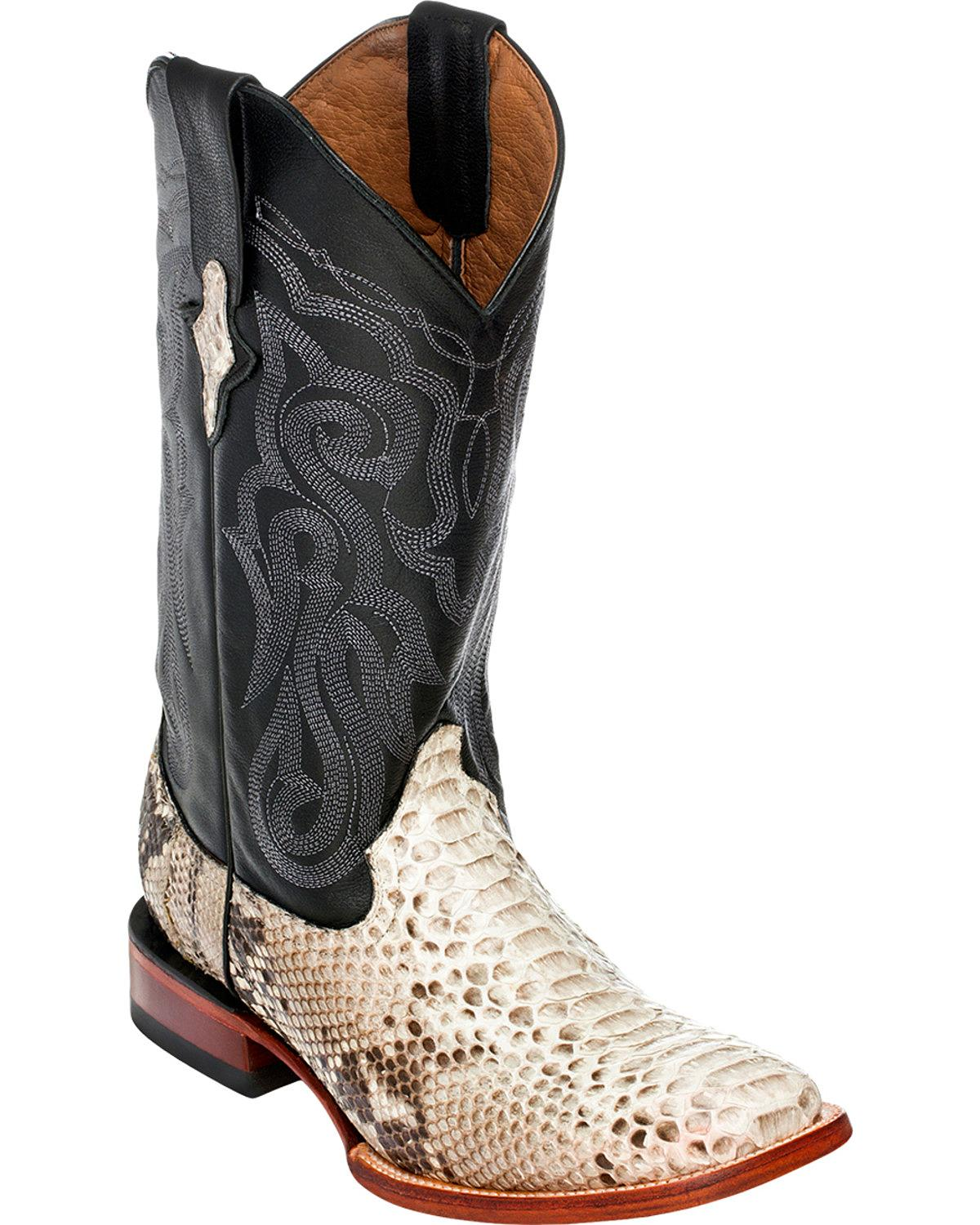 Ferrini Men's Python Cowboy Boot Square Toe 1069309 by Ferrini