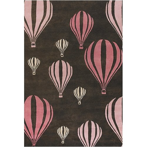 Chandra Rugs Kids Balloon Pink/Brown Area Rug