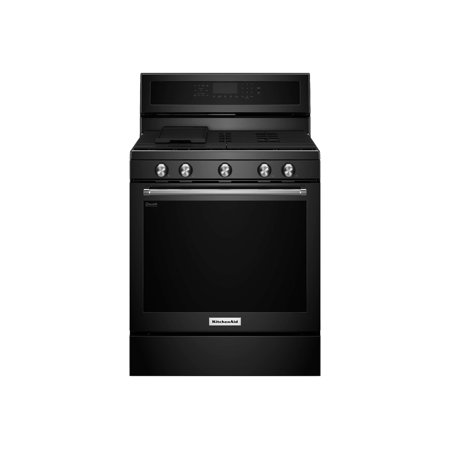 KitchenAid KFEG500EBS - Range - freestanding - width: 29.9 in - depth: 27.8 in - height: 47.2 in - with self-cleaning - black stainless