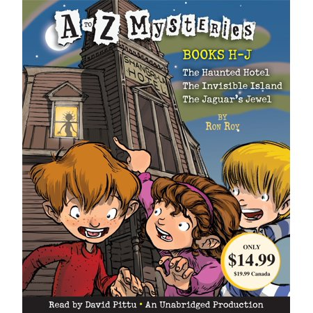 Audio Books For Halloween (A to Z Mysteries: Books H-J : The Haunted Hotel; The Invisible Island; The Jaguar's)