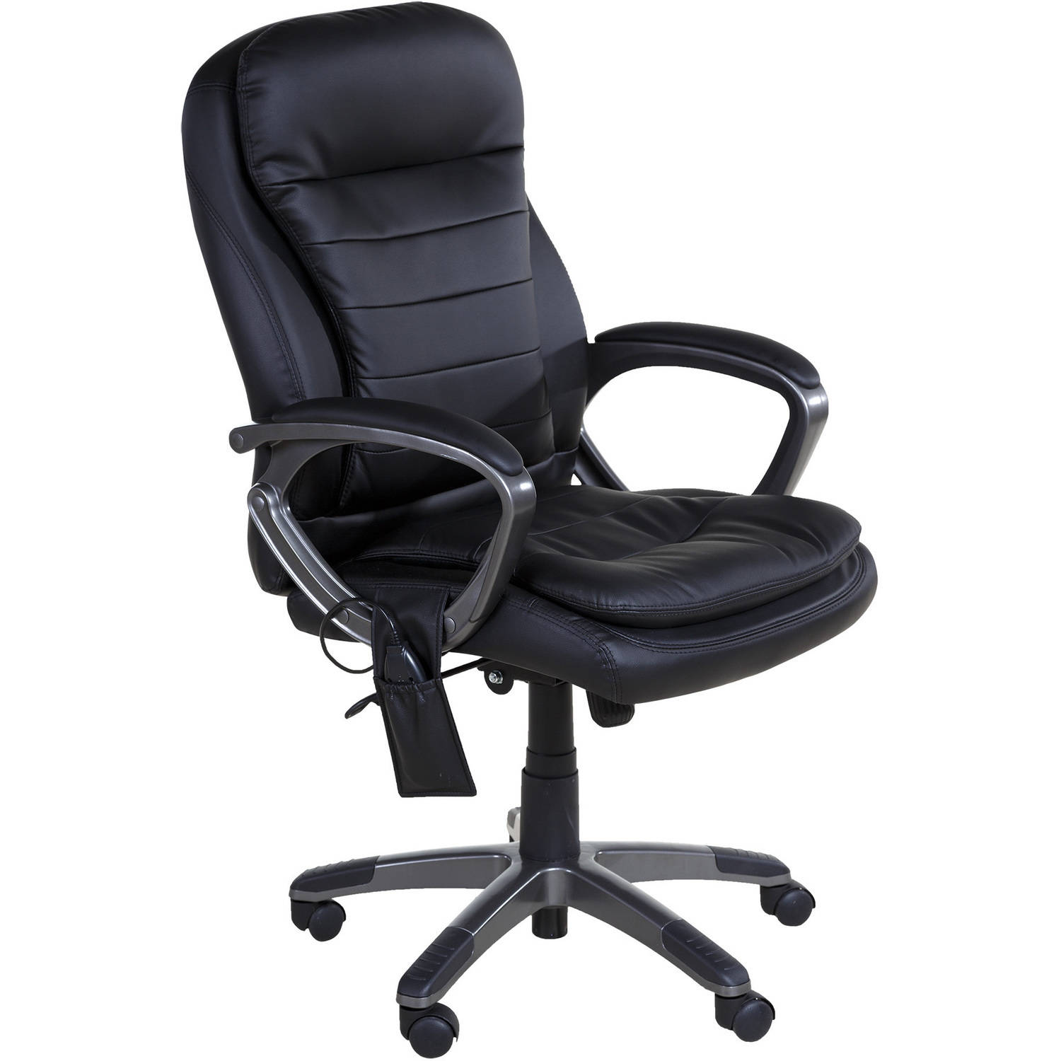 Comfort Products Leather Executive Pillow Top Chair with Heat and Massage