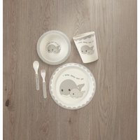 Precious Moments 5-Piece Bamboo Whale Mealtime Gift Set 182417
