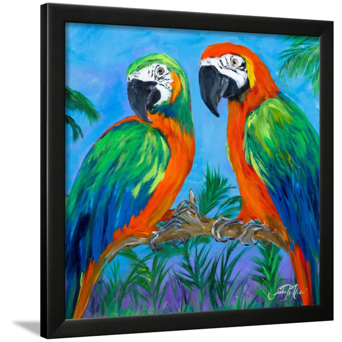 Island Birds Square I Framed Print Wall Artwork By Julie DeRice by Art.com