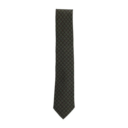 Isaia Wool - Isaia Napoli Men's Green Brown 100% Wool Diamond Pattern Classic Tie