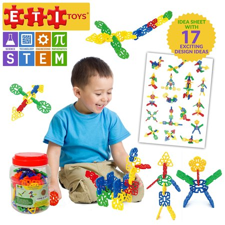 Eti Toys Geometry Snowflakes For Boys And Girls 80 Piece Set For