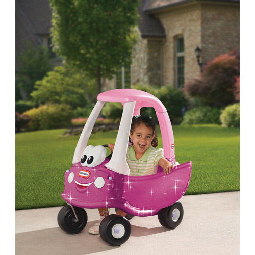 Little Tikes Princess Cozy Coupe Ride-On with Glitter