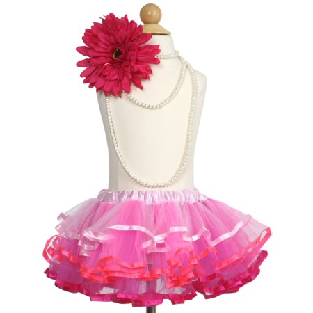 Efavormart Ombre Pink Girls Girls Ballet Tutu Skirt for Dance Performance Events Wedding Party Banquet Event Dance - Long Tutus For Girls
