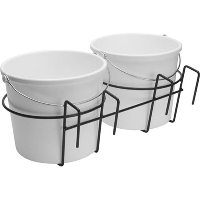 TekSupply 103903 Double Bucket Holder - Fits over 2 in x 4 in Wooden Fencing