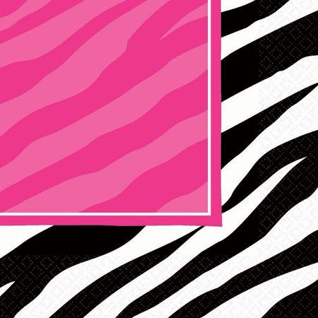 Zebra Party Napkins - Party Supplies - Pink Zebra Party Supplies